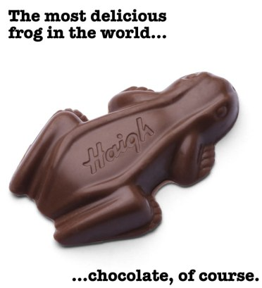 the most delicious frog haigh chocolate frog