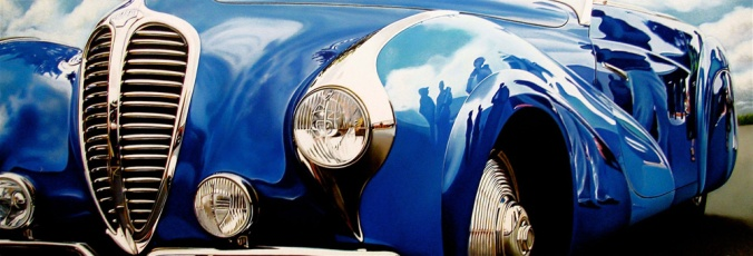 Classic-muscle-cars-paintings-by-Cheryl-Kelley-3-BlueDelahaye